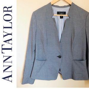 Ann Taylor Petite gray blazer